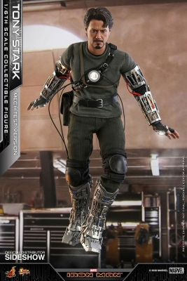 IRON MAN - Tony Stark Mech Test Version 1/6 Actionfigur Hot Toys