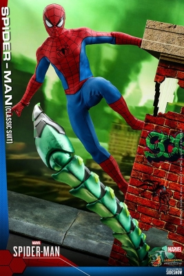 SPIDERMAN - Spider-Man Classic Suit 1/6 Video Game Actionfigur Hot Toys