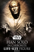 STAR WARS - Han Solo in Karbonit Life-Size Statue Sideshow
