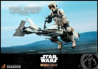 STAR WARS : MANDALORIAN - Scout Trooper & Speeder Bike 1/6 Actionfigur Hot Toys