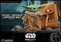 STAR WARS : MANDALORIAN - Scout Trooper & Speeder Bike 1/6 Actionfigur Hot Toys