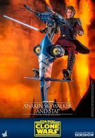 STAR WARS : CLONE WARS - Anakin Skywalker & STAP 1/6 Actionfigur Hot Toys