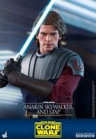 STAR WARS : CLONE WARS - Anakin Skywalker & STAP 1/6 Actionfigur Hot Toys