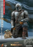 STAR WARS : MANDALORIAN -  Mandalorian & The Child DELUXE 1/4 Actionfigur Hot Toys