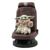 STAR WARS : MANDALORIAN - The Child in Chair 1/2 Premier Collection Statue Gentle Giant