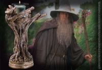 HERR DER RINGE - Kerzenständer Gandalf der Graue Stab 23 cm Noble Collection