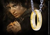 HERR DER RINGE - Der Eine Ring mit Kette (Sterling Silber) Noble Collection