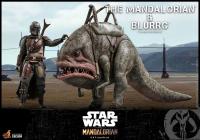 STAR WARS : MANDALORIAN - Mandalorian & Blurrg 1/6 Actionfigur Hot Toys