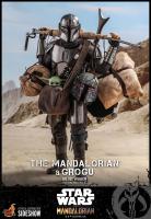 STAR WARS : MANDALORIAN - Mandalorian & Grogu DELUXE Doppelpack 1/6 Actionfigur Hot Toys