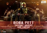 STAR WARS : MANDALORIAN - Boba Fett & Throne 1/6 Actionfigur Hot Toys