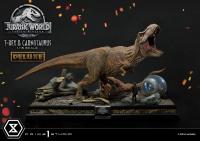 JURASSIC WORLD : FALLEN KINGDOM - T-Rex & Carnotaurus DELUXE 1/15 Statue 90 cm Prime 1