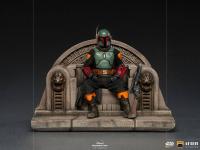 THE MANDALORIAN - Boba Fett on Throne 1/10 Art Scale Statue Iron Studios