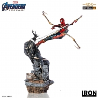 AVENGERS : ENDGAME - Iron Spider-Man vs Outrider BDS Art Scale Statue Iron Studios