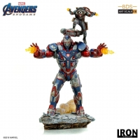 AVENGERS : ENDGAME -  Iron Patriot & Rocket BDS Art Scale 1/10 Statue Iron Studios